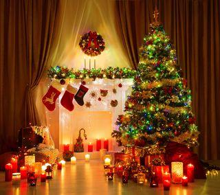 Обои на телефон сезон, праздник, дерево, рождество
