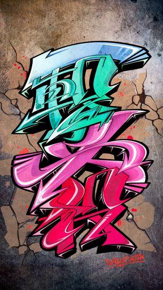 Обои на телефон граффити, японские, улица, типография, kanji, ichigekihissatsu