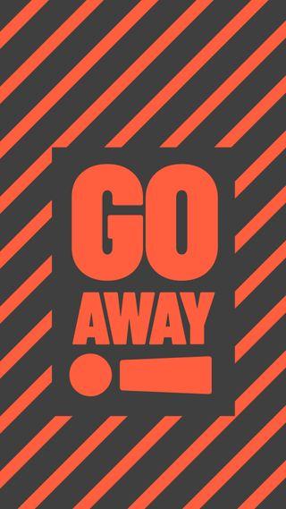 Обои на телефон сообщение, яркие, сильный, секрет, предупреждение, оранжевые, заблокировано, далеко, keep out, go away