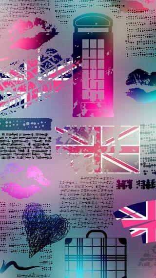 Обои на телефон лондон, шаблон, любовь, вид, love, london pattern