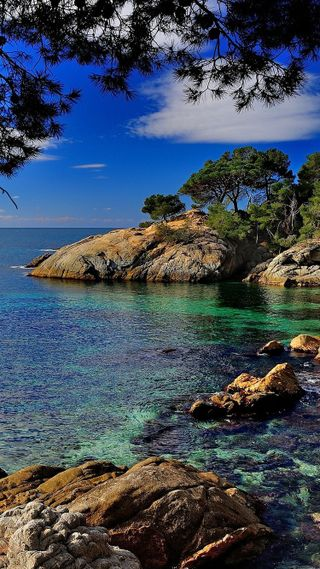 Обои на телефон берег, спокойствие, синие, океан, море, крутые, вода, вид, аква, sea coast