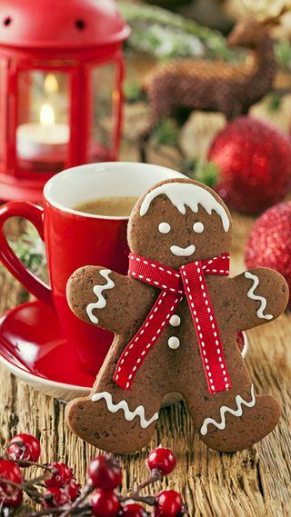 Обои на телефон каникулы, gingerbread
