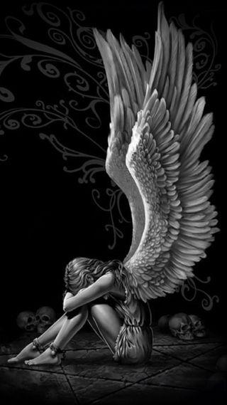 Обои на телефон грустные, ангел, uxzs, sad angel, gfv