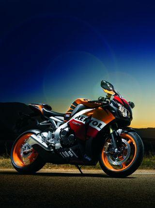 Обои на телефон хонда, скорость, оранжевые, мотоциклы, мото, дорога, гоночные, газ, байк, honda moto gp 1, honda, gp