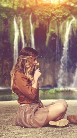 Обои на телефон настроение, природа, прекрасные, люди, девушки