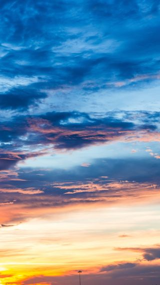 Обои на телефон облачно, природа, погода, пейзаж, облака, небо, закат, вид, partly cloudy