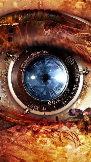 Обои на телефон технология, объектив, камера, глаза, hi tech camera lens, hi tech