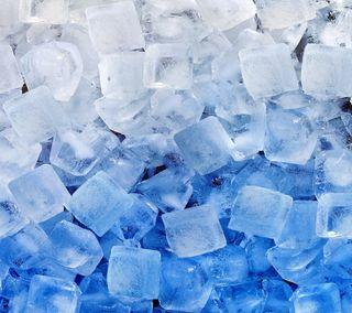 Обои на телефон кубы, синие, лед