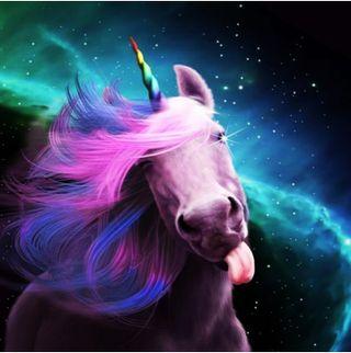Обои на телефон лошадь, синие, единорог, ponk