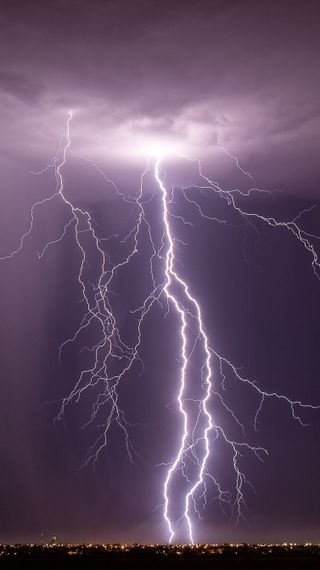 Обои на телефон гром, свет, природа, облака, ночь, небо, дождь, thunderstorm, 2015