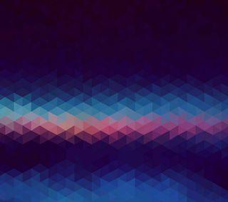 Обои на телефон треугольники, синие, материал, андроид, nexus, lollipop, android m blue, android m
