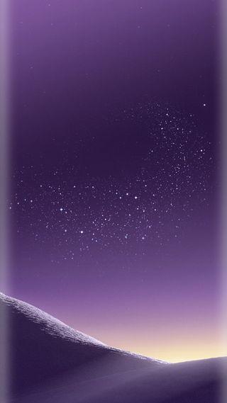 Обои на телефон грани, фиолетовые, стандартные, пустыня, песок, ночь, звезды, галактика, s8plus, s8, galaxy s8