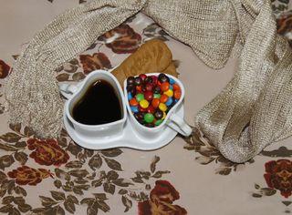 Обои на телефон конфеты, сердце, любовь, кофе, love, biscuit