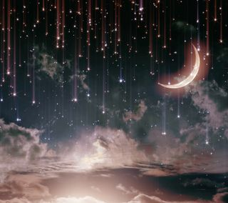 Обои на телефон луна, звезды, ночь, небо