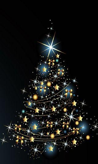 Обои на телефон векторные, рождество, дерево, абстрактные