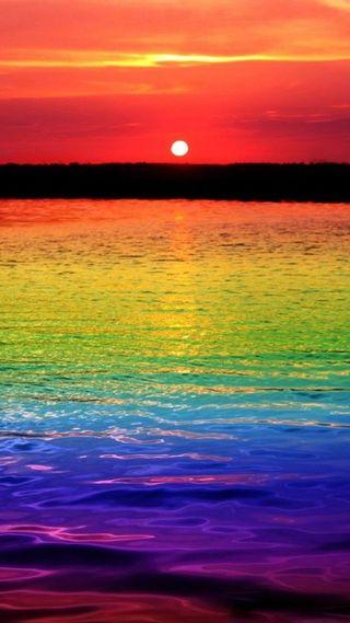 Обои на телефон лето, цветные, радуга, океаны, закат
