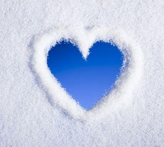 Обои на телефон чувства, снег, сердце, милые, любовь, snow heart, love