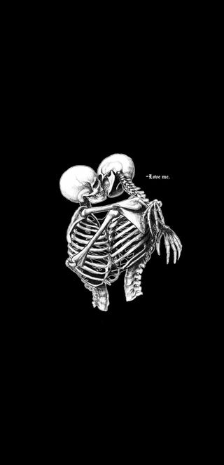 Обои на телефон скелет, я, черные, смерть, поцелуй, пара, мертвый, любовь, жуткие, белые, love me, love