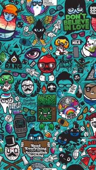 Обои на телефон граффити, сумасшедшие, забавные, аниме, graffiti crazy