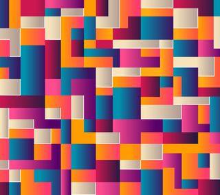 Обои на телефон мозаика, шаблон, фон, плитка, красочные, геометрические, абстрактные, rendering, 3д, 3d