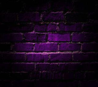 Обои на телефон кирпичи, фиолетовые, стена, purple brick wall