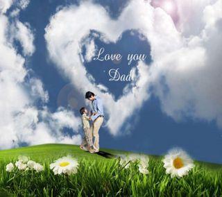 Обои на телефон отец, чувства, ты, счастливые, сердце, приятные, природа, облака, любовь, день, love you dad, love, happy father day