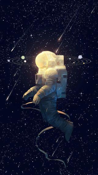 Обои на телефон космонавт, планета, космос, звезда, вселенная
