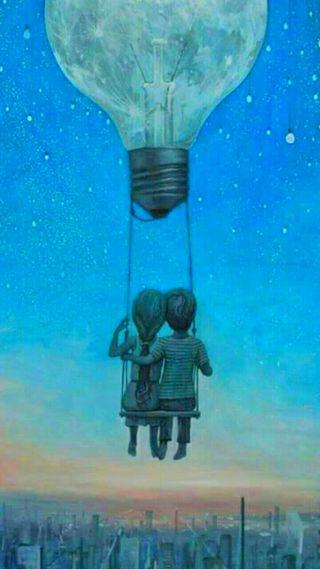 Обои на телефон любовники, пара, любовь, лампочка, lovers in bulb, love