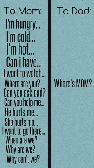 Обои на телефон цитата, поговорка, отец, мама, забавные, where is mom