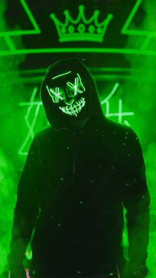 Обои на телефон маска, неоновые, neon maskben, neon mask