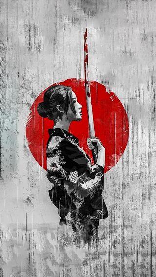Обои на телефон японские, меч, девушки, yakuza