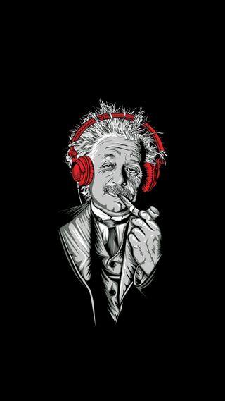 Обои на телефон эйнштейн, наушники, фан, музыка, hipsta, albert