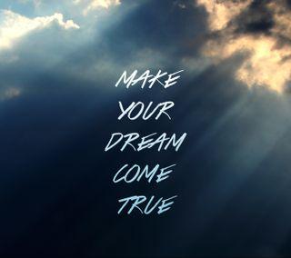 Обои на телефон мечты, правда, поговорка, небо, мечта, знаки, верить, вера, dream come true