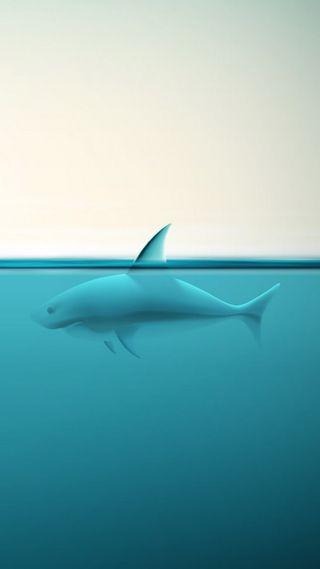 Обои на телефон акула, океан, море, зубы, животные, вода, абстрактные, 3д, 3d