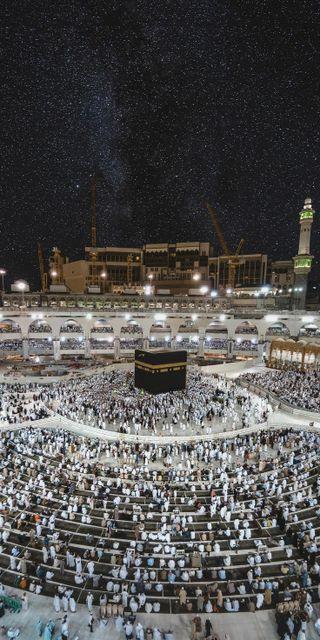Обои на телефон мечеть, реал, кааба, исламские, ислам, дворец, город, горизонт, вид, аллах, skyline, revenant, islamic palace