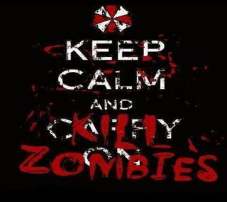 Обои на телефон спокойствие, зомби, высказывания, keep