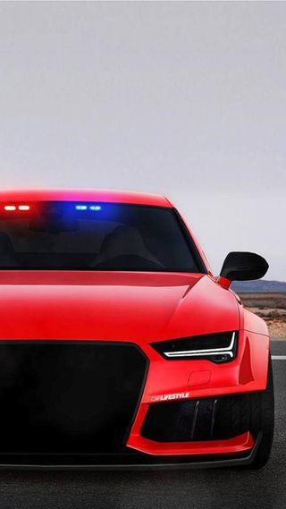 Обои на телефон полиция, машины, красые, ауди, audi rs7, audi