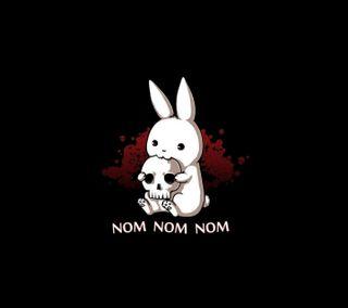 Обои на телефон кролики, череп, ужасы, темные, страшные, плохой, кролик, зло, готические, bad