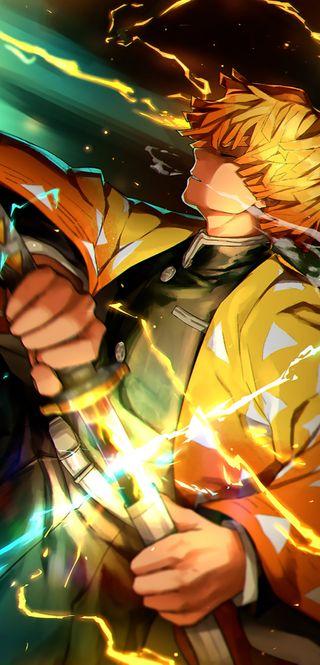 Обои на телефон меч, демон, аниме
