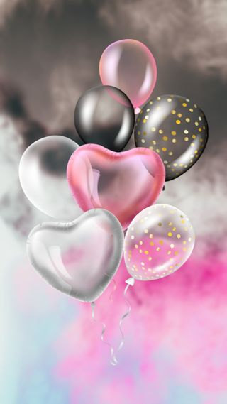 Обои на телефон девчачие, я, шары, супер, серые, розовые, небо, любовь, девушки, take me higher, love
