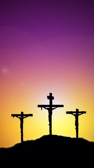 Обои на телефон пасхальные, крест, исус