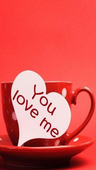 Обои на телефон чай, я, чашка, утро, ты, сердце, любовь, you love me, love, hd, cup