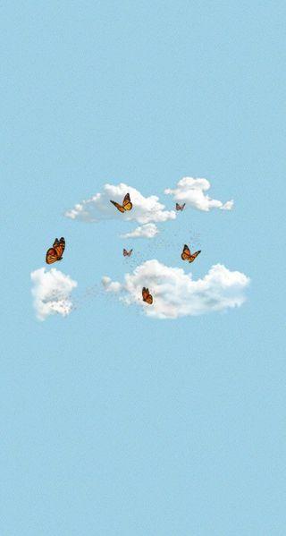 Обои на телефон эстетические, nubes, mariposas