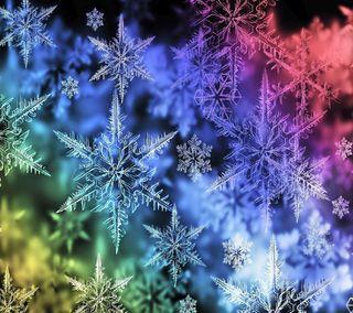 Обои на телефон снежинки, снег, абстрактные, flakes