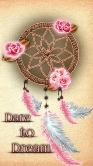 Обои на телефон коричневые, цитата, розы, розовые, перья, мой, ловец снов, my dreamcatcher