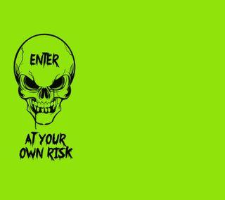 Обои на телефон предупреждение, опасные, череп, risk