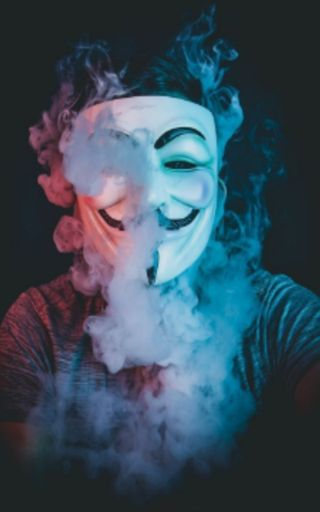 Обои на телефон сигареты, маска, дым, smoking anonymus, anonymus