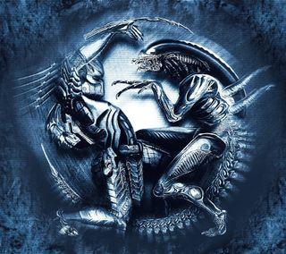 Обои на телефон хищник, против, пришелец, sci-fi, alien vs predator
