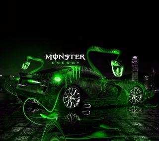 Обои на телефон энергетики, зеленые, додж, вайпер, monster, dodge