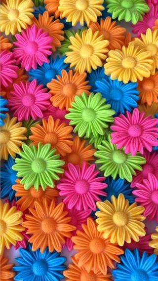 Обои на телефон яркие, цветы, цветные, синие, розовые, оранжевые, зеленые